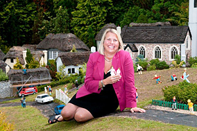 Maureen McAllister at the Babbacombe Model Village and Gardens
