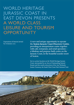 Marketing brochure for the Seaton Visitor Centre site.