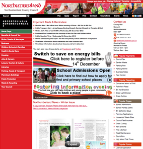 Northumberland County Council website.